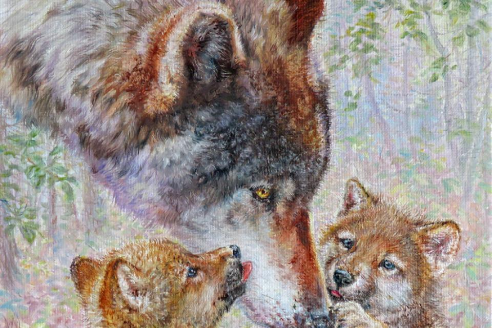 Edit Artwork | Wallhanging by Beth Hoselton | Artists for Conservation
