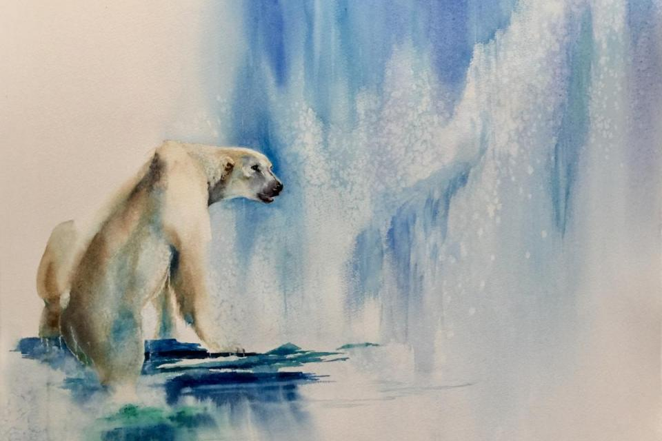   Wallhanging by Sandi Lear   Artists for Conservation