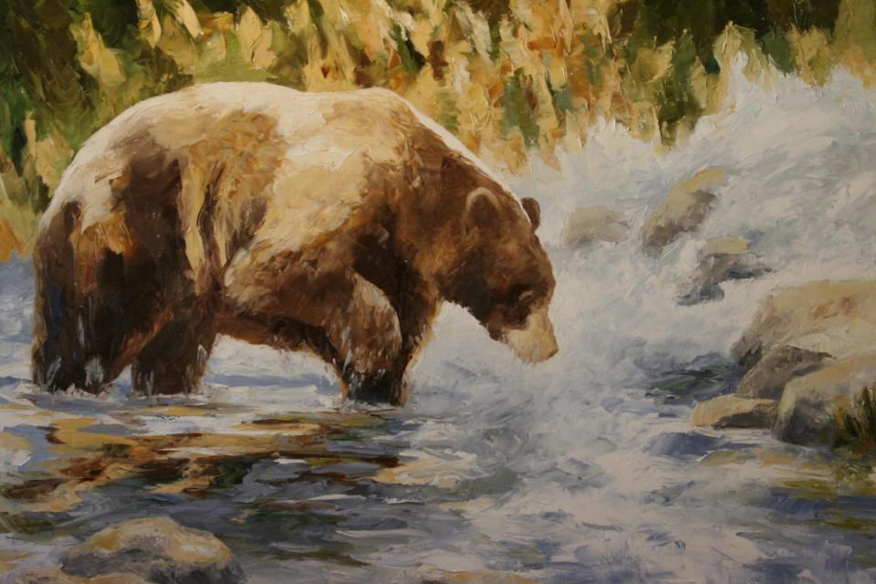<em>Edit Conservation Project/Cause</em> Fishing - 50% of the sales commission for &quot;Fishing&quot; will be donated to Lake Tahoe Wildlife Care and 25% of sales commission for &quot;Fishing&quot; will be donated to the Artists for Conservation organization | Debbie Griest