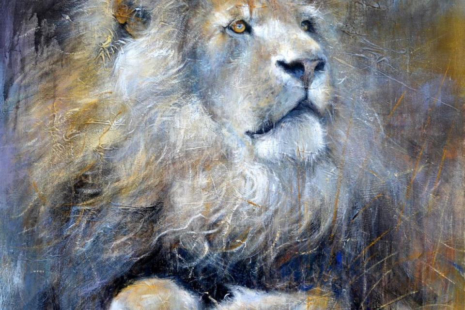   Wallhanging by Lynne Davies   Artists for Conservation
