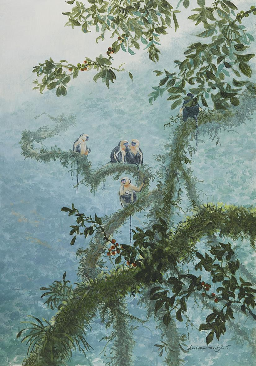   Wallhanging by van Hoang Dao   Artists for Conservation