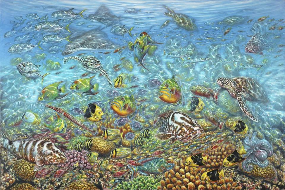 Edit Artwork   Wallhanging by Curtis Atwater   Artists for Conservation