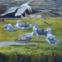 On the Edge | Wallhanging by Debbie Hughbanks | Artists for Conservation 2018