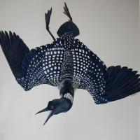 Loon on the Wing | Wallhanging by Rob Butler | Artists for Conservation 2018