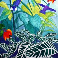 Rainforest | Wallhanging by Oenone Hammersley | Artists for Conservation 2018