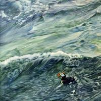 Newfoundland Surfing | Wallhanging by Kelly McNeil | Artists for Conservation 2018