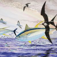 Neck n' Neck II | Wallhanging by Guy Harvey | Artists for Conservation 2018