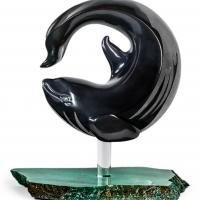 Battle of the Orca and Thunderbird | Sculpture by Tony Mayo | Artists for Conservation 2018