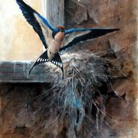 Home Again | Wallhanging by Wayne Chunat | Artists for Conservation 2018