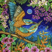 The Birds and the Bees | Wallhanging by Kim Toft | Artists for Conservation 2018