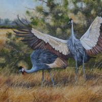 Crowned Cranes | Wallhanging by George Mgona | Artists for Conservation 2018