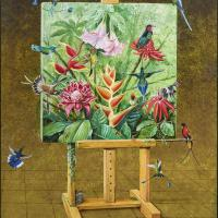 Hummingbirds' Visit | Wallhanging by Harro Maass | Artists for Conservation 2018