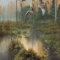Blue Wings at Jenny Hole | Wallhanging by Christopher Walden | Artists for Conservation 2018