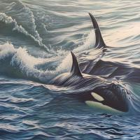 Dual Pursuit   Wallhanging by Jerry Ragg   Artists for Conservation 2018