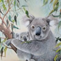 Koala Comfort | Wallhanging by Paula Wiegmink | Artists for Conservation 2020