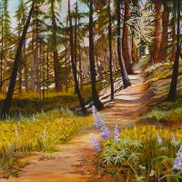 Take the Path Through the Woods | Wallhanging by Dorothy Tinning | Artists for Conservation 2020