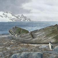 Whaling Remnants | Wallhanging by Linda Besse | Artists for Conservation 2020