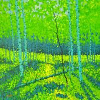 Aspen Spring | Wallhanging by Jim Pescott | Artists for Conservation 2020