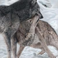 Spirit Animals - Alpha Pair | Wallhanging by Gemma Gylling | Artists for Conservation 2020