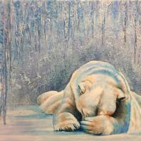 On Thin Ice | Wallhanging by Joyce Trygg | Artists for Conservation 2020