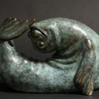 Up Dog | Sculpture by Serena Bates | Artists for Conservation 2020