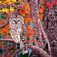 Silent Sentinel | Wallhanging by Linda Sorensen | Artists for Conservation 2020
