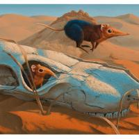 The Gaming of the Shrew | Wallhanging by Josh Tiessen | Artists for Conservation 2020