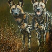 Lycaon pictus - Still Endangered   Wallhanging by Candy McManiman   Artists for Conservation 2020