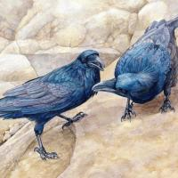 Raven Dance | Wallhanging by Vicky Earle | Artists for Conservation 2020