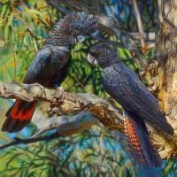 Afternoon Rendezvous | Wallhanging by Stephen Jesic | Artists for Conservation 2020