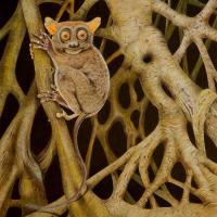 Strangler Fig Leprechaun   Wallhanging by Dr. Elke Gröning   Artists for Conservation 2021