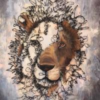 Please Don't Leave Me Behind   Wallhanging by Ken Wallin   Artists for Conservation 2021