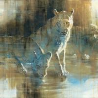Lion Sundowners | Wallhanging by Anne London | Artists for Conservation 2021