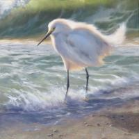 Snowy Surf | Wallhanging by Mary Erickson | Artists for Conservation 2021