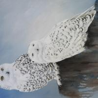 Snowy Owls   Wallhanging by Bobbie Crane   Artists for Conservation 2021