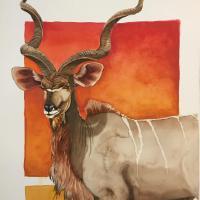 Greater Kudu, Maasai Mara | Wallhanging by Douglass Lockyer | Artists for Conservation 2021