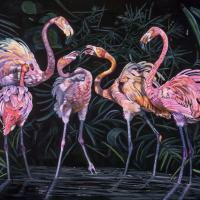 The Great Debate   Wallhanging by Cher Anderson   Artists for Conservation 2021