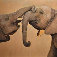 Best Friends   Wallhanging by Cathy Weiss   Artists for Conservation 2021