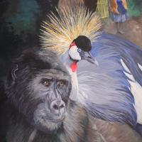Believing in Bwindi   Wallhanging by Kitty Harvill   Artists for Conservation 2021
